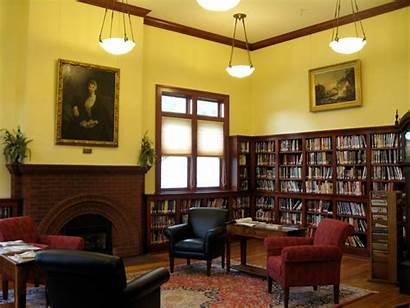 Library Carnegie Interior Centennial Morristown Libraries Fireplace