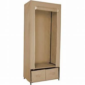 Armoire En Toile : armoire penderie tissu 2 tiroirs kb8 ~ Teatrodelosmanantiales.com Idées de Décoration