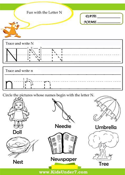 Letter N Worksheets Kindergarten  Letter N Worksheets For Preschool And Kindergarten Craftskids