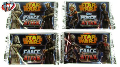 Star Wars Force Attax Series 4 Trading Cards Pack Opening