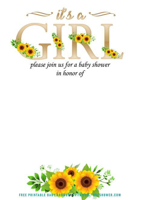 sunflower invitation templates  baby shower bagvania