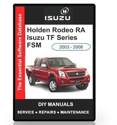 old cars and repair manuals free 2008 isuzu i 370 electronic throttle control isuzu tf holden rodeo ra workshop manual download manuals t