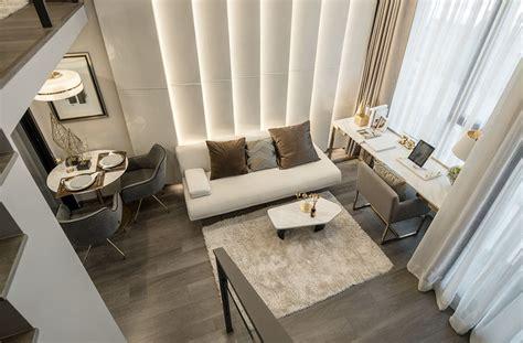 luxurious compact modern condo apartment  double