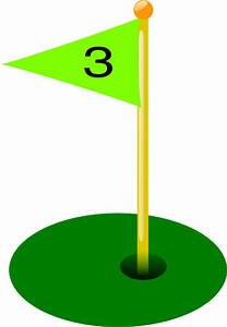 Golf Flag 3rd Hole Clip Art at Clker.com - vector clip art ...