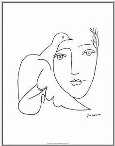 Picasso – Drawing 05d Face & Dove   DOUGIE'S ART BOOK