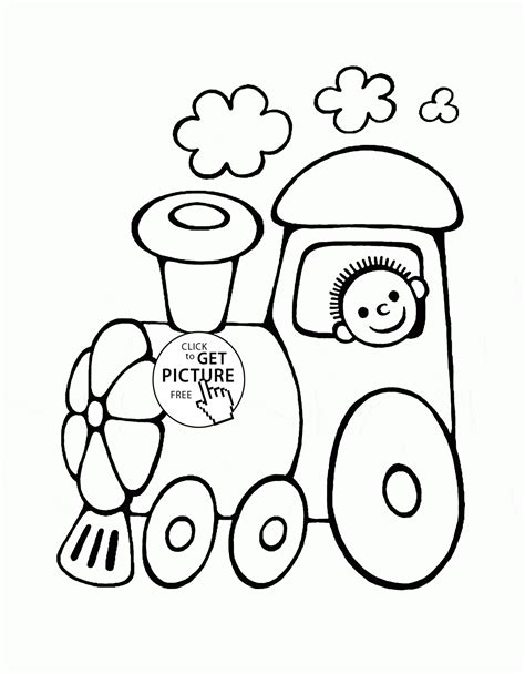 funny cartoon train coloring page  toddlers