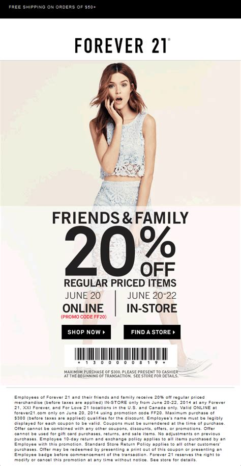 Pinned June 21st: 20% off the tab at Forever 21 #coupon ...