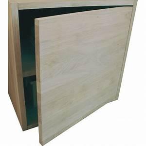 Cube Etagere Bois : porte pour cube de rangement avec tag re en bois de ch ne massif blanchi ~ Teatrodelosmanantiales.com Idées de Décoration