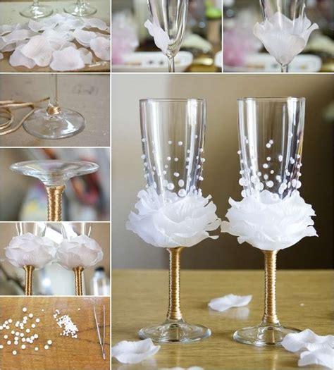 decor glass amazing rose wine glass decor idea for weddings