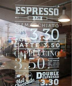 Cafe reverse cut vinyl lettering window signage for Reverse cut vinyl lettering