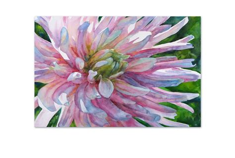 buy pink flower watercolour canvas wall art print