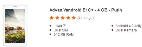 layar advan e1c 7 harga tablet advan vandroid 1 jutaan terpopuler