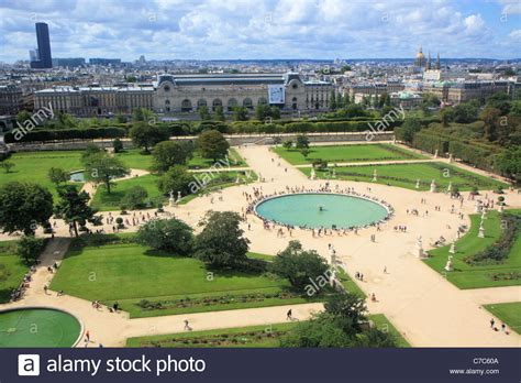 aerial view  jardin des tuileries   great wheel