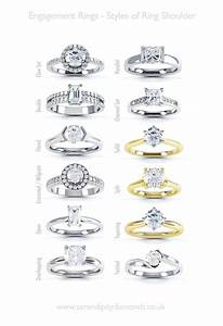 engagement ring help styles of ring shoulders a chart of With types of wedding rings styles