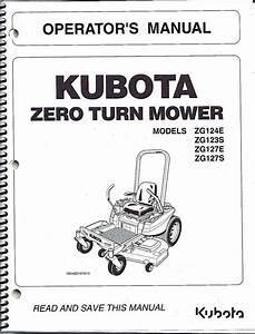 Kubota Zg124e Zg123s Zg127e Zg127s Zero
