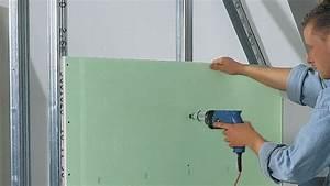 Doubler Un Mur En Placo Sur Rail : comment fixer un rail de placo ~ Dode.kayakingforconservation.com Idées de Décoration