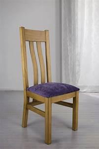 Chaise Chene Massif : chaise l onor en ch ne massif assise tissu mauve meuble en ch ne massif ~ Teatrodelosmanantiales.com Idées de Décoration