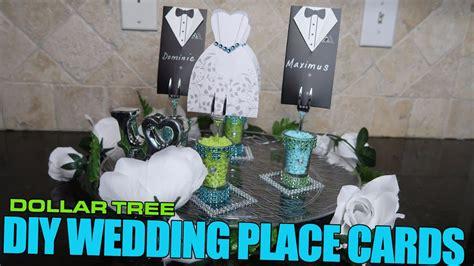 dollar tree diy wedding place cards youtube