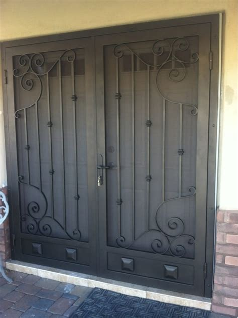 One Of Our Many Custom Double Security Screen Doors  Yelp. Garage Stop. High Loft Garage Storage. Internal Sliding Doors. Hanging Garage Storage. Door Bottom Sweep. Contemporary Closet Doors. Hobby Airport Parking Garage. Garage Door Strip Weather