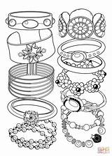 Coloring Bracelets Printable Jewelry Supercoloring Drawing Paper Categories sketch template