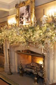 winter white mantle garland christmas pinterest