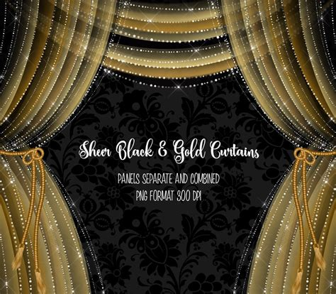 black and gold drapes sheer black and gold curtains illustrations creative