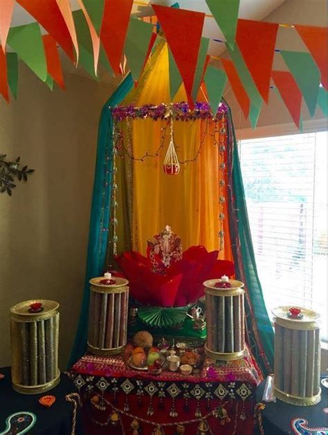 Home Made Decor by Ganpati Decoration Ideas Festive Decor