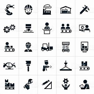 Manufacturing Icons Stock Vector Art & More Images of 2015 ...