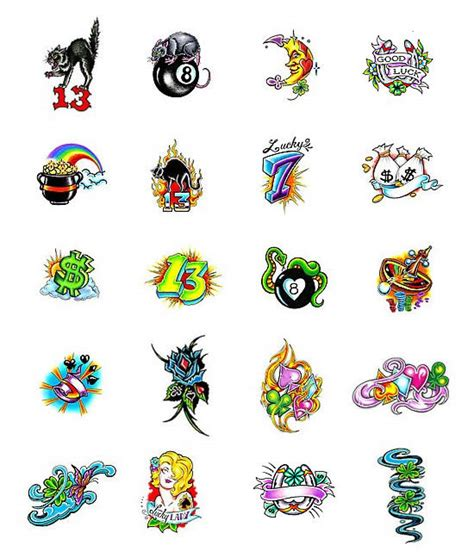 Good Luck Symbols Tattoos Designs Lucky Numbers For