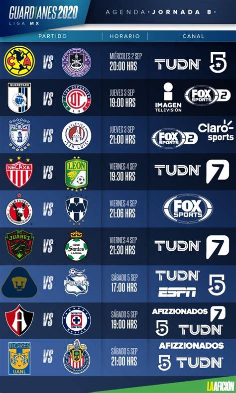 Liga MX. Horarios y dónde ver en vivo la jornada 8 del ...
