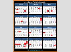 West Bengal India Public Holidays 2016 – Holidays Tracker