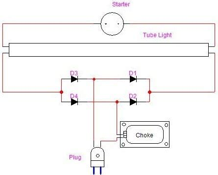 Using Fuse Tube Light Electronics Project Circuit