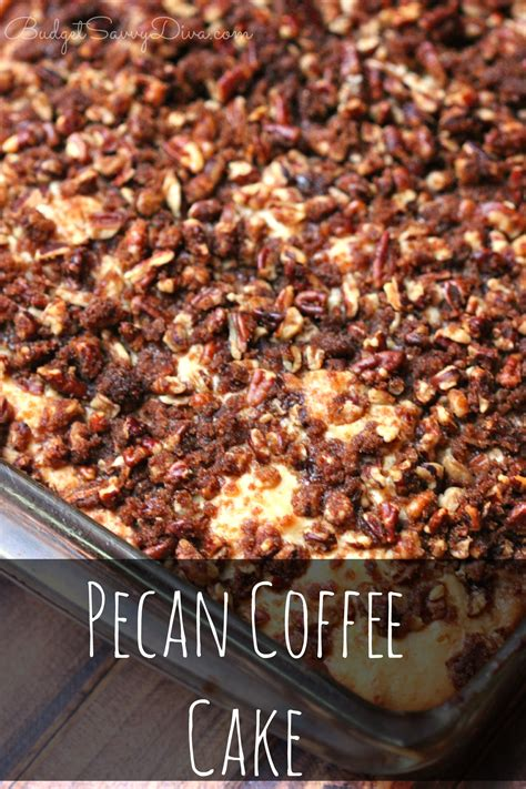 Sprinkle topping mixture over dough. Pecan Coffee Cake Recipe | Budget Savvy Diva