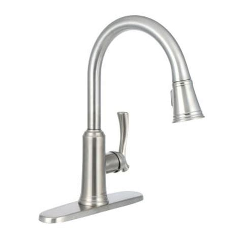Delta Lakeview Faucet 19963 delta lakeview single handle pull sprayer kitchen