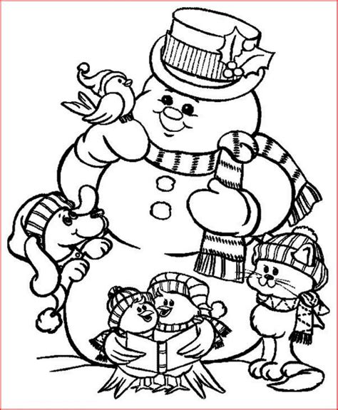 coloring pages christmas snowman coloring pages