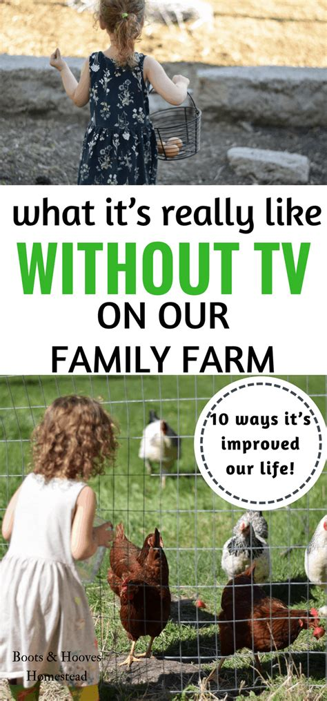 What To Do With Tv by Raising Farm What It S Really Like Without Tv