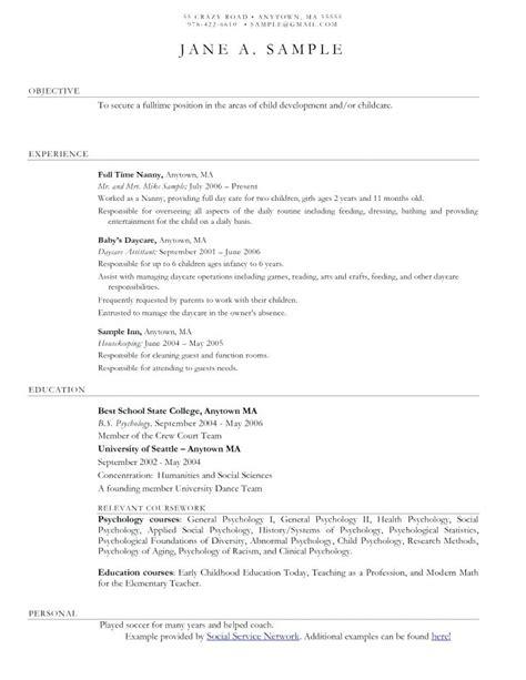 Childcare Resume Sle by 12 13 Child Care Educator Resume Sle