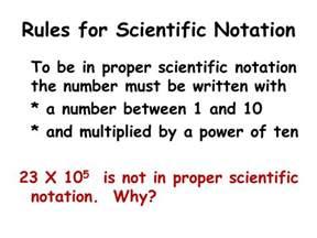 Proper Scientific Notation