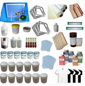 6 Color Silk Screen Printing Full Supplies Package [SPS-6 ...