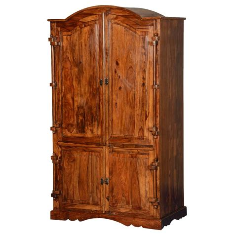 Large Wardrobe With Shelves by Modern Rustic Solid Wood Large Wardrobe Armoire