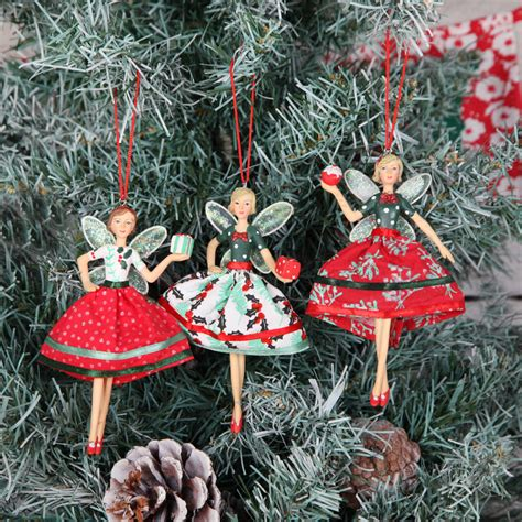 christmas vintage style fairy tree decoration by red berry