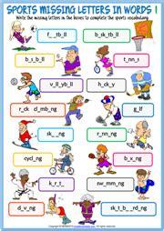 sports esl vocabulary worksheets