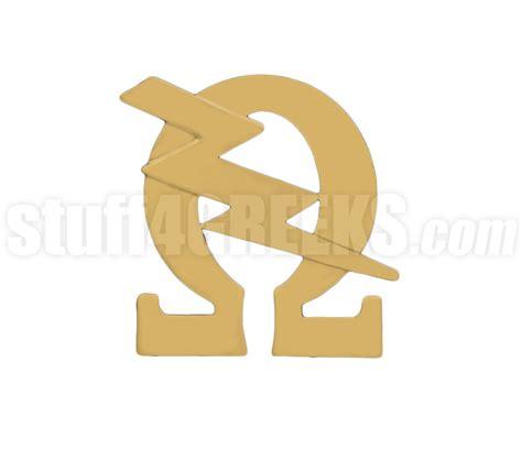 letter before omega omega psi phi 0 75 quot image mascot lapel pin with q bolt 27787