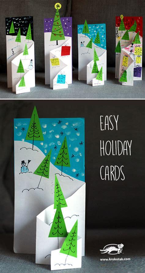 krokotak easy holiday cards