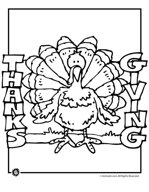 thanksgiving brown coloring pages