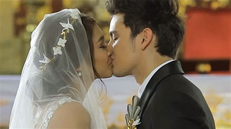 nadine lustre course throwback to clark and lea s heartfelt wedding vows