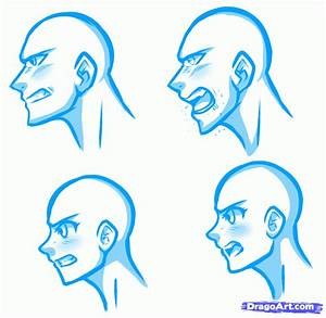 How to Draw Angry Faces, Anime Angry Face, Step by Step ...