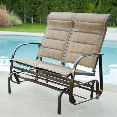loveseat lawn chair weatherproof outdoor loveseat glider chair with padded