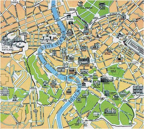 Street Map Of Rome Map Of Rome Rome Maps