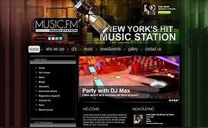 online radio joomla website templates themes free With radio schedule template